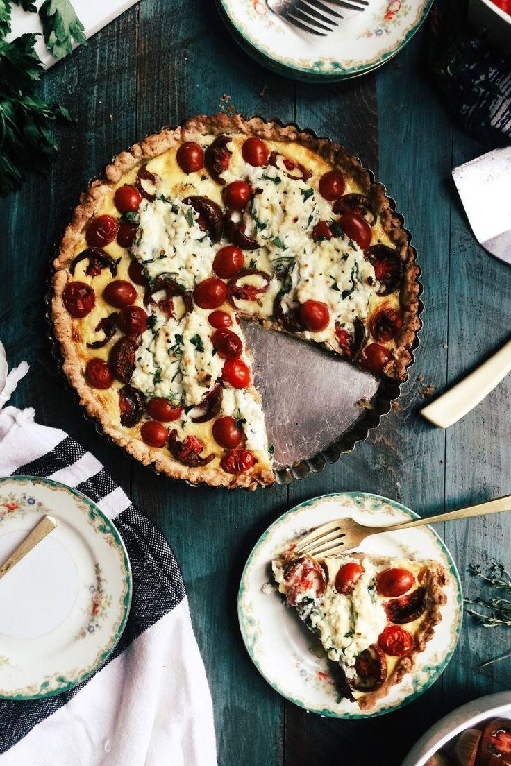 Summer Tomato Pie with Herb Ricotta