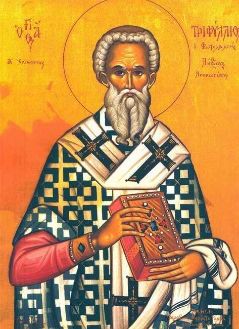 St Triphyllius the Bishop of Leucosia (Nicosia) in Cyprus