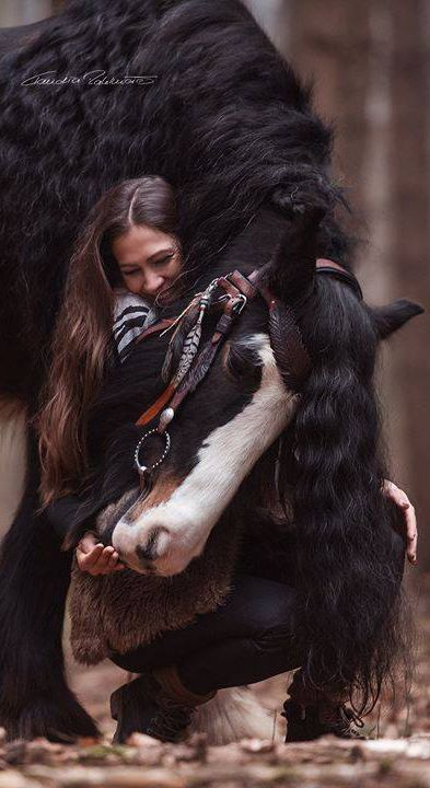 Eventually a horse and its person begin to look alike.