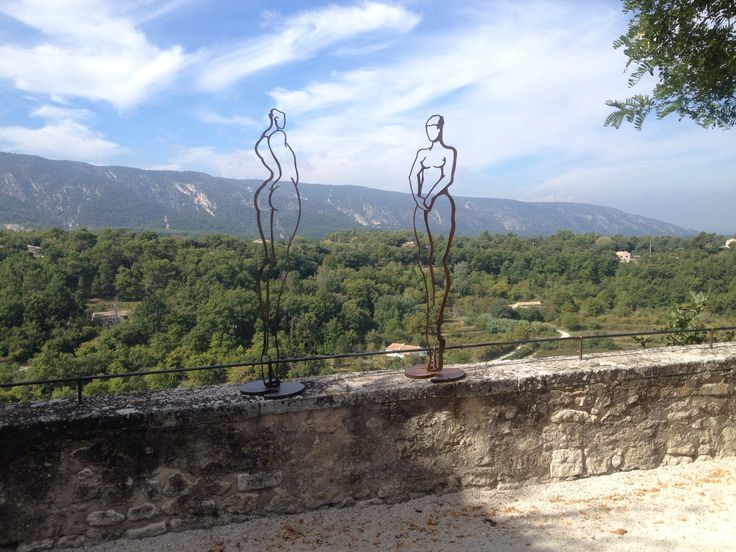 Art with a view, in the beautifull village of Menerbes (France, Vaucluse)