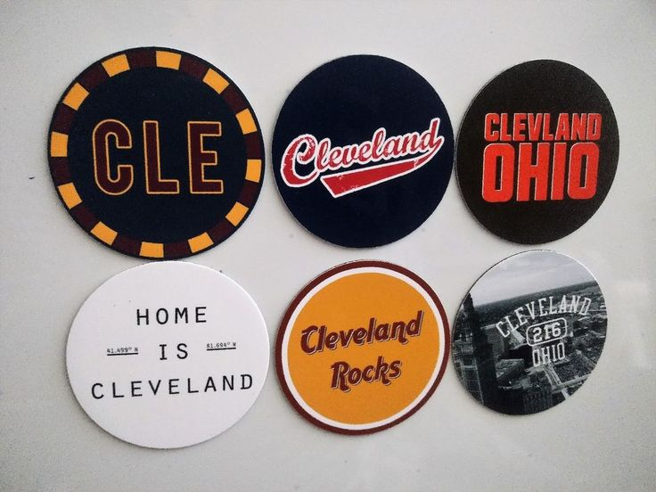 Cleveland Magnets - City of Cleveland Ohio Magnets - City Pride -  6 Designs #Cleveland