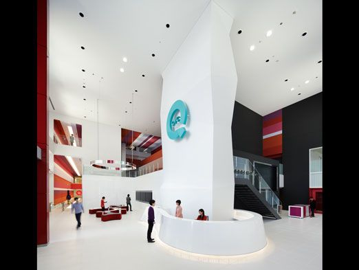 QVC Japan Headquarters by Gensler and Associates / International is a finalist in Interior Design's Best of Year Awards! #boy2015 https://boyawards.interiordesign.net/finalists/2013/projects/office-large-media/qvc-japan-headquarters