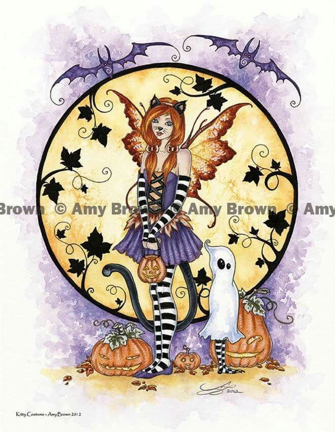 """""""Kitty Costume Fairy"""" by Amy Brown"""