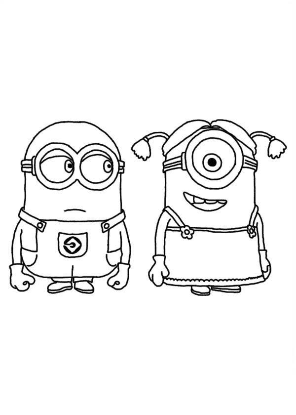 Dibujo de los Minions para imprimir y colorear (3 de 24 ...