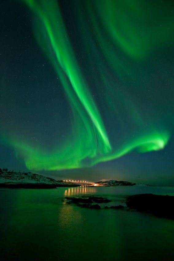 Aurora Borealis Over Sommaroey | Near Tromso | Norway |