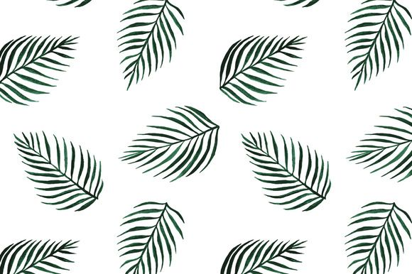 Seamless vector palm tree print by grop on @creativemarket