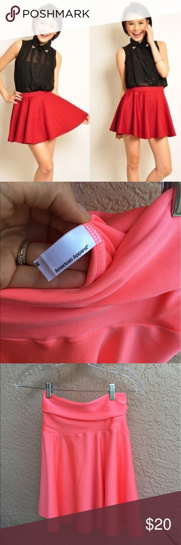 American apparel hot pink skater skirt American apparel hot pink skater skirt size M American Apparel Skirts Midi