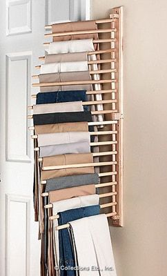 Wall Mount Trouser Pant Closet Organization Rack
