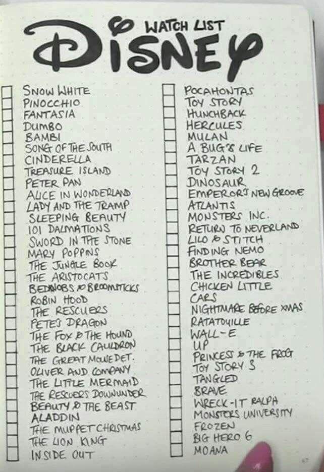 Disney Movies Watch List Disney Movie Collection Disney Movies