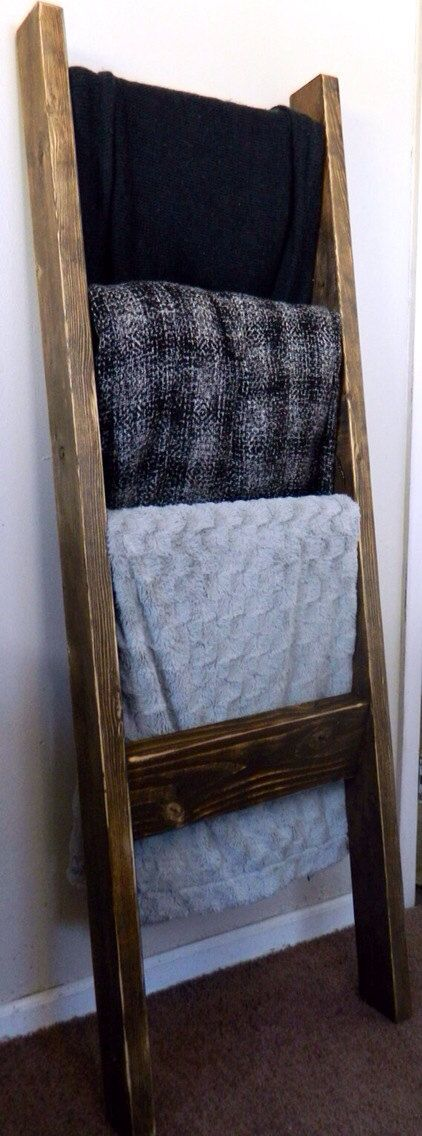 Rustic Blanket Ladder by SincerelyYoursTruly on Etsy, $40.00