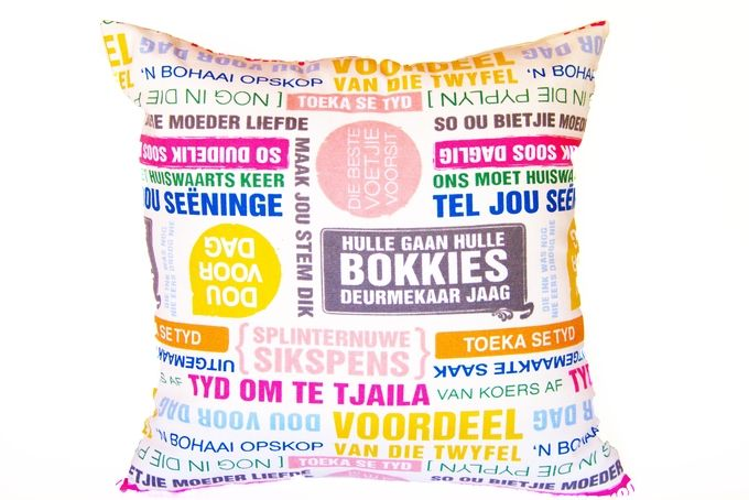 Afrikaans Cushion  A by Decorative Cushions and Homeware