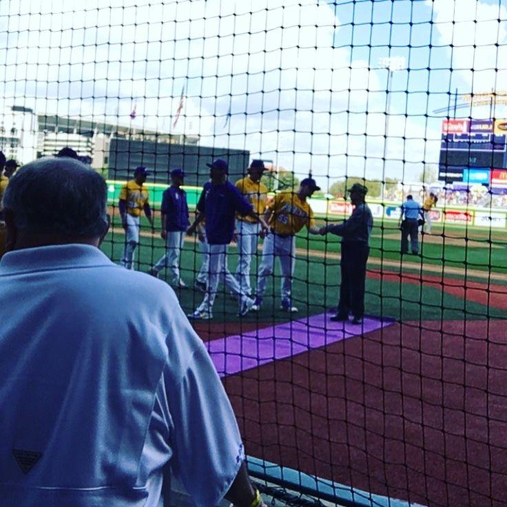 They honored my daddy at LSU baseball game 3/19/17 Korean Army Veteran 🇺🇸