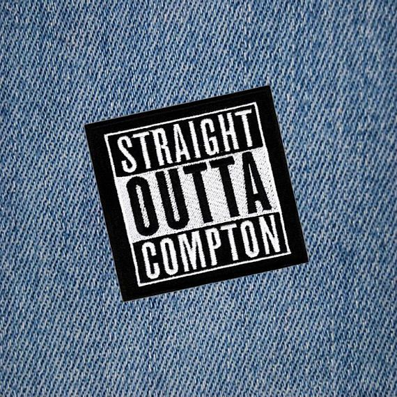 STRAIGHT OUTTA COMPTON MOTORCYCLE BIKER EMBROIDERED VEST PATCH IRON ON
