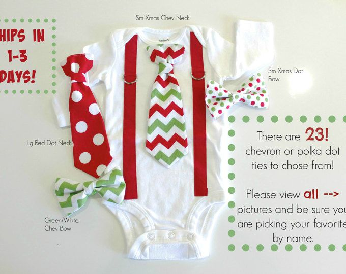 Newborn Christmas Picture Outfit. Baby Boy by CuddleSleepDream