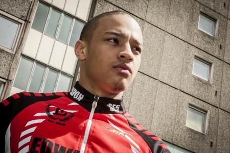 Tre Whyte, BMX racer and subject of the documentary 1 Way Up, is from Peckham South London. Photo Credit: Andy Newbold Photography