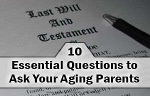 Have an aging parent? If something goes wrong, you need to know where to find their important legal documents, and know their medical status. Learn how.
