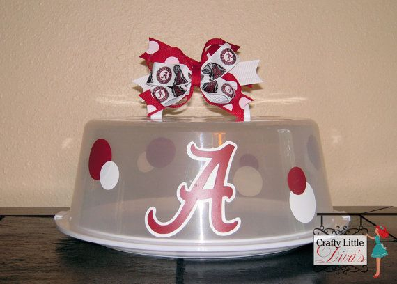 Alabama Cake Carrier Personalize Cake Carrier by CraftyLittleDiva