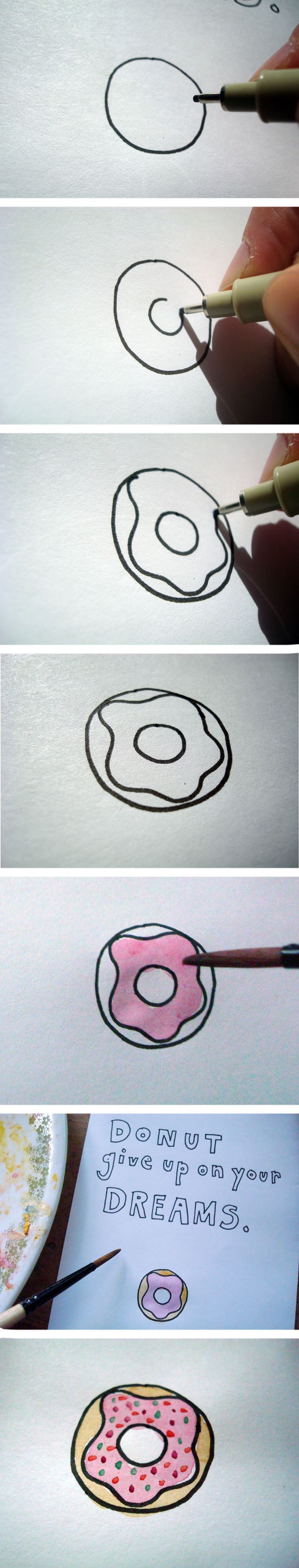 Drawing doughnuts is easy