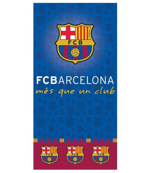 This FC Barcelona Club Towel is 100% Cotton and has a velour feel quality. Ideal for the beach, pool or home. Free UK delivery available.