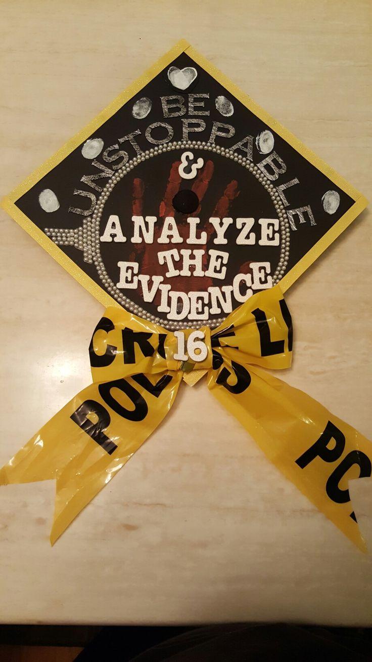 Forensic science grad cap