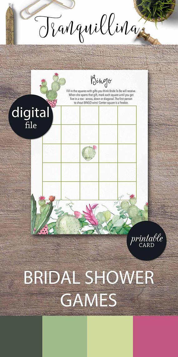 what to write in my bridal shower thank you cards%0A Bridal Shower Bingo Game  Fiesta Bridal Shower Game  Succulent Bridal Bingo  card PRINTABLE  Cactus Bingo Fiesta Bingo game Boho shower game