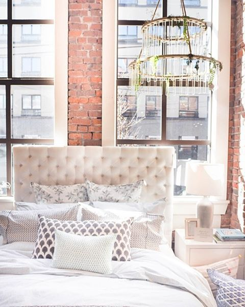 Saturday morning daydreams in our Stephanie Bed! Now in stock in several fabric choices. Click this photo to shop the look!