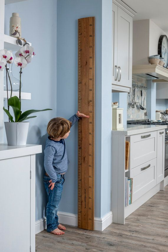 Fantastic 66 wooden height chart, for the whole family. Handmade from sustainable wood, cut & shaped to look just like your old school ruler! Inches & cm, can be personalised. The Perfect present, Wedding, Christening or just because you love it! Visit www.realrulerco.com for more