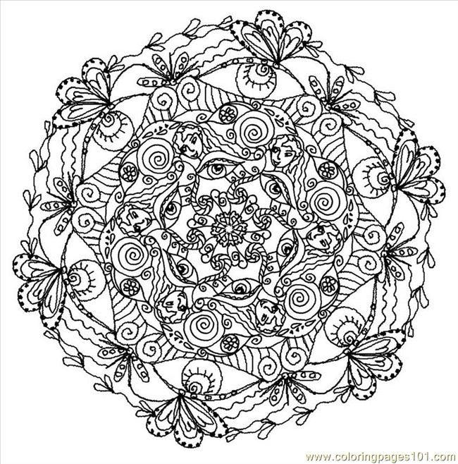 Mandala (1) Coloring Page