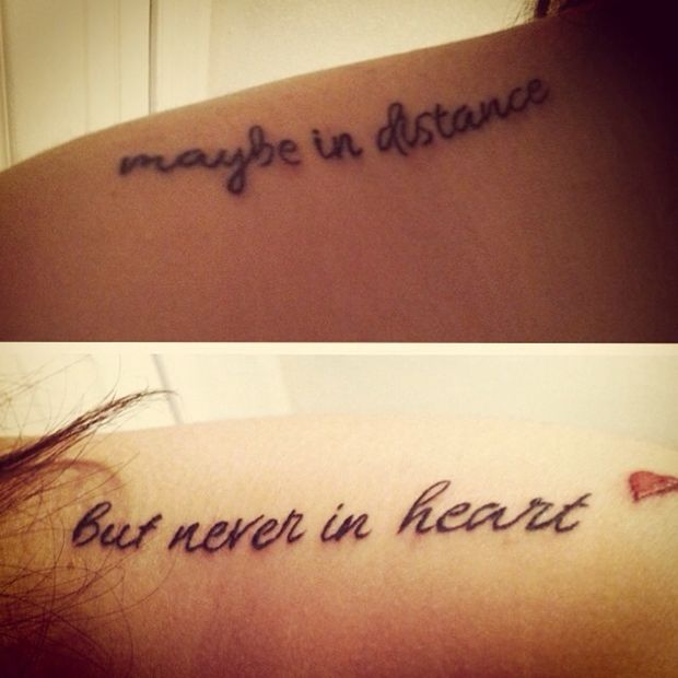 The 25+ best Distance tattoos ideas on Pinterest | Perfect meaning ...
