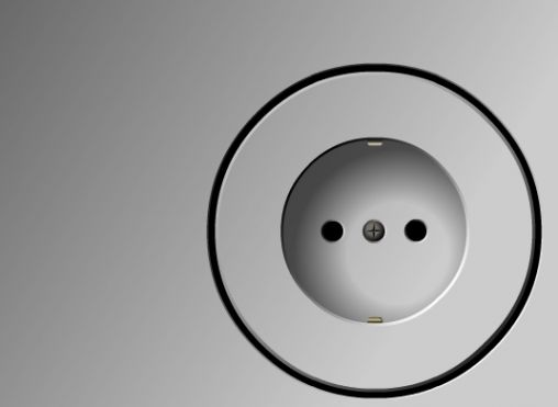 Integrated wall socket by Belgian company Niko.