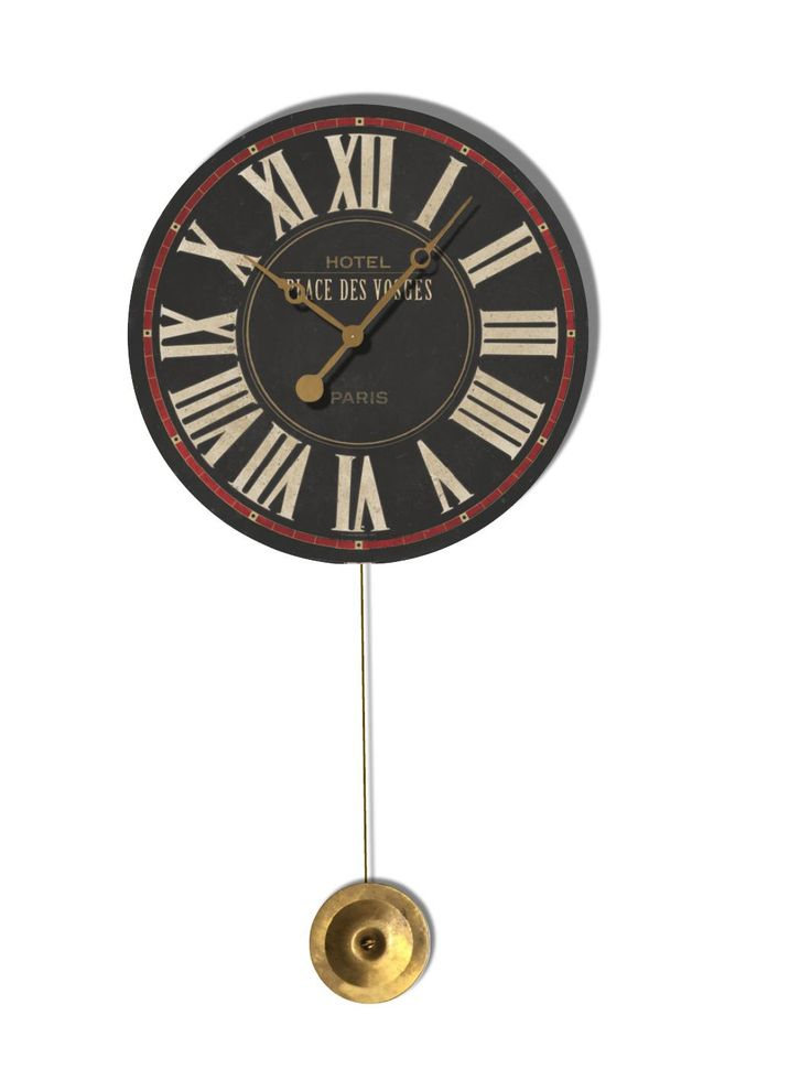 Beautiful small pendulum wall clock has an