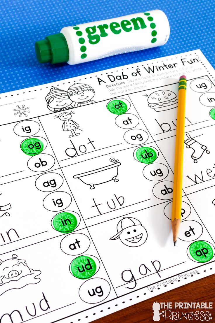 Worksheet Phonics Activities For Kindergarten 17 best ideas about bingo dabber on pinterest kindergarten no prep winter activities for over 35 pages of literacy and math using