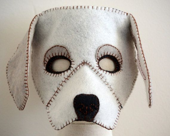 Dog Mask PDF Pattern by oxeyedaisey on Etsy