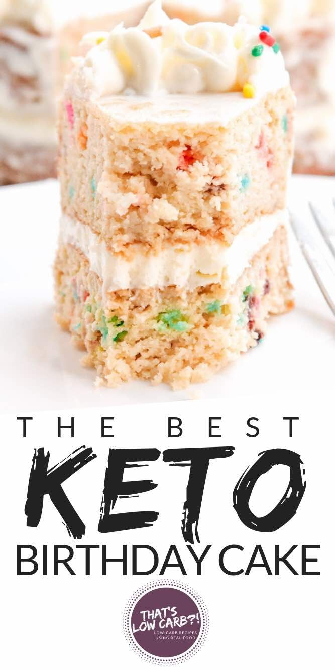 Keto Birthday Cake proves that deliciousness and dessert-ing can be low carb. Ha…  – Keto ideas