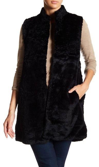 Love Token Sleeveless Genuine Rabbit Fur Vest