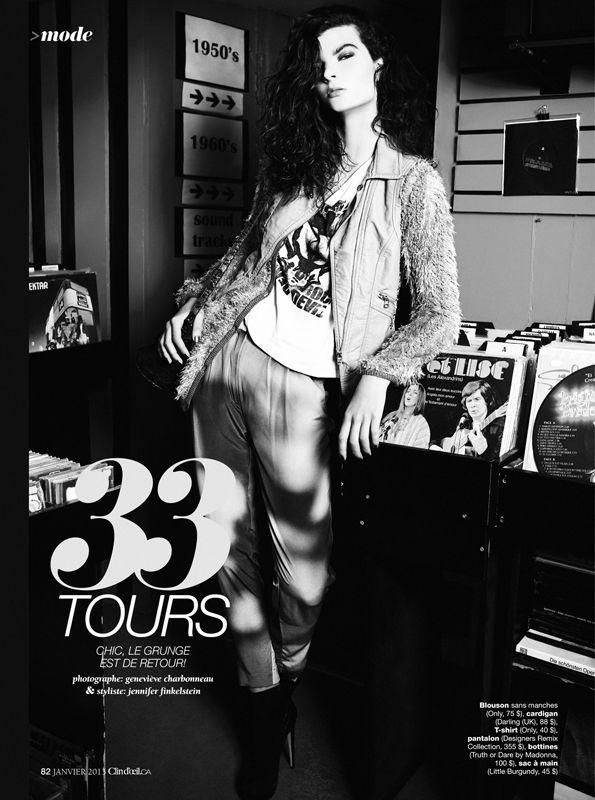 CLIN D'OEIL MAGAZINE:  Photographer:  Genevieve Charbonneau, Judy Inc #clindoeil #music #fashion #photography #style #clothing #records #hip #cool #blackandwhite #model