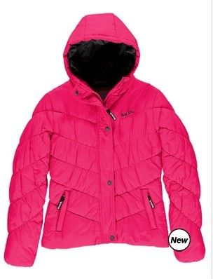 GHOSTLY B JACKET Girls Ghostly B Jacket with great puff padding detail.  Available in Black and Pink  $99.95