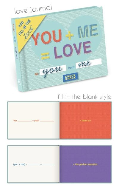 9ba2010f5460c You + Me   Love Fill in the Love Journal. Valentines Day Gifts for Teen  Boyfriend