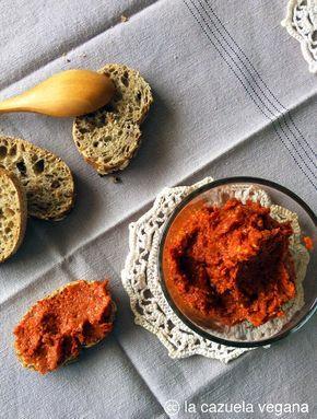 Paté de pimiento y tomates secos [Sobrasada vegana]   La Cazuela Vegana