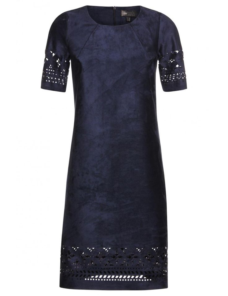 Donkerblauwe jurk in imitatieleer   van L'histoire de Louise - e5 mode