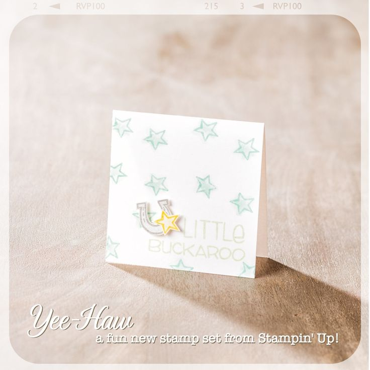 Love this sweet little card, perfect for a baby gift.: Cards Ideas, Baby Cards, Baby Gifts, Cards Baby Kids, Stampin Up, Cards Inspiration, Yeehaw, Handstamp Cards, Cards Yee Haw