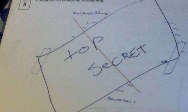 Respuestas de exámenes graciosas. ¿Has hecho tú algo así?