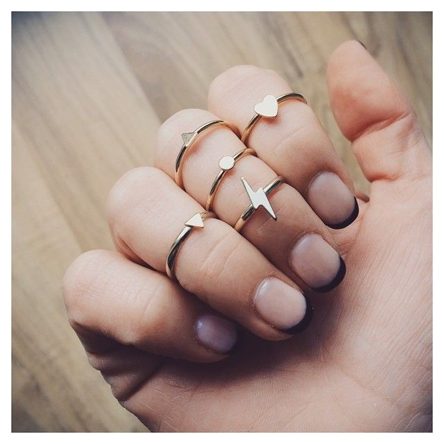 Bing Bang delicate gold rings.
