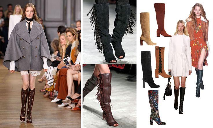 18 trendiga och snygga knähöga stövlar för hösten 2015