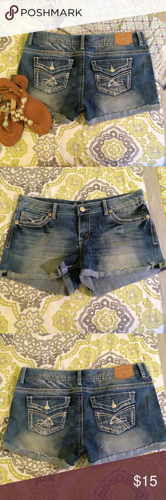 Cuffed Jean Shorts Faded jean shorts with real front and back pockets. Amethyst Shorts Jean Shorts