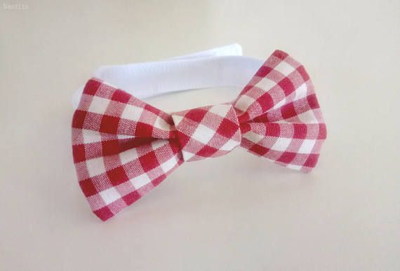 Red and white bow tie Toddler bow tie Baby boy bow tie Newborn