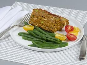 Silver Palate Picnic Meatloaf featuring Silver Palate Thick and Rough Oatmeal and Silver Palate Gazpacho Salsa