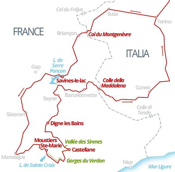 930 km - Monginevro, Provenza, Gorges du Verdon, Colle della Maddalena