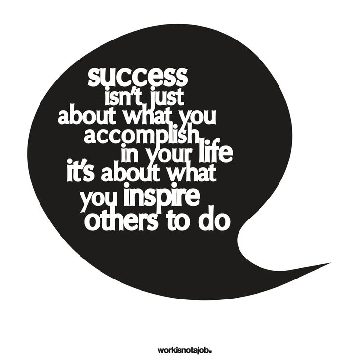 Love this Quote! Success isn't just about what you accomplish in your life, it's about what you inspire others to do. #Success #Inspirational #Quotes #Accomplishments #Words #Sayings
