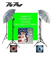 Vu-Pro Basic Chroma Key Home Photography Studio Package, Photo Lighting, Photography Backdrop Stands, Light Stands Plus Digital Backdrops. $219.99, via Etsy.